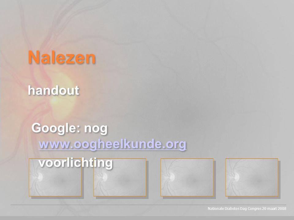 Nalezen handout Google: nog www.oogheelkunde.org voorlichting