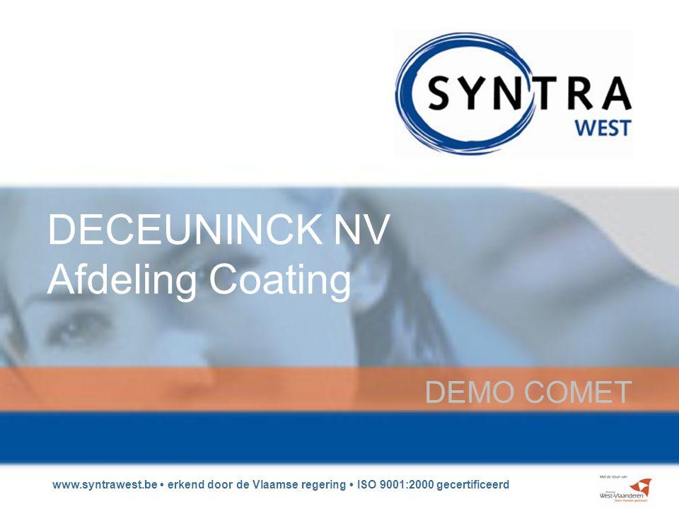 DECEUNINCK NV Afdeling Coating