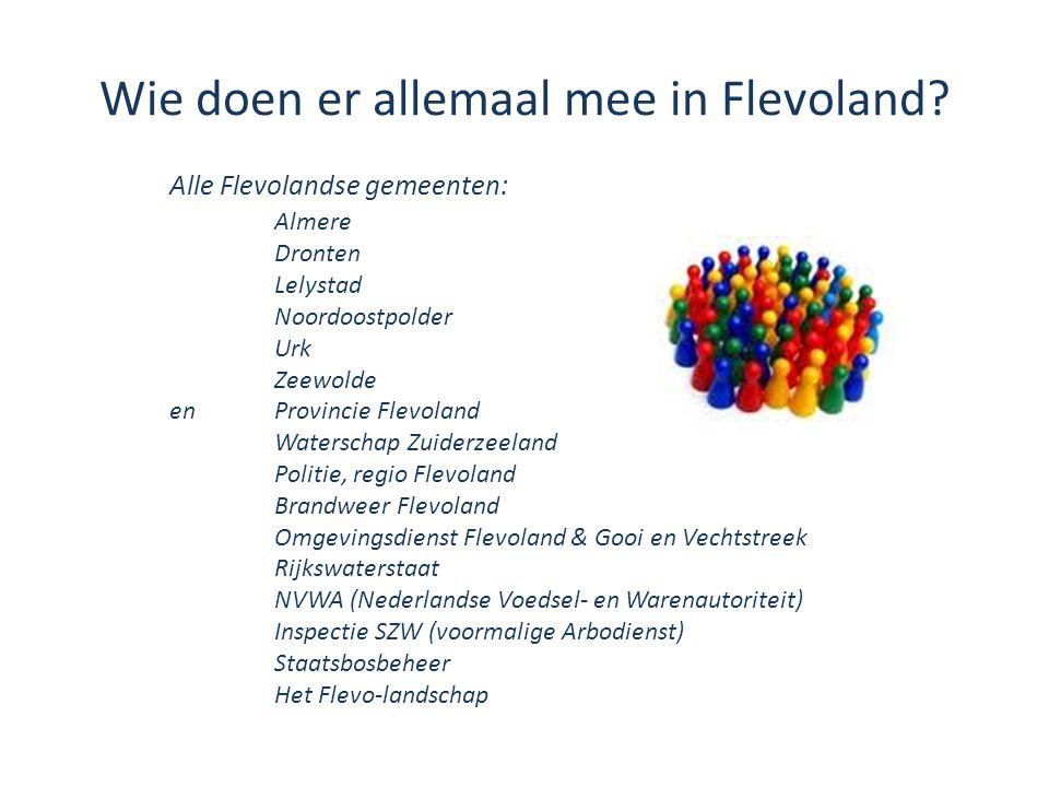 Wie doen er allemaal mee in Flevoland