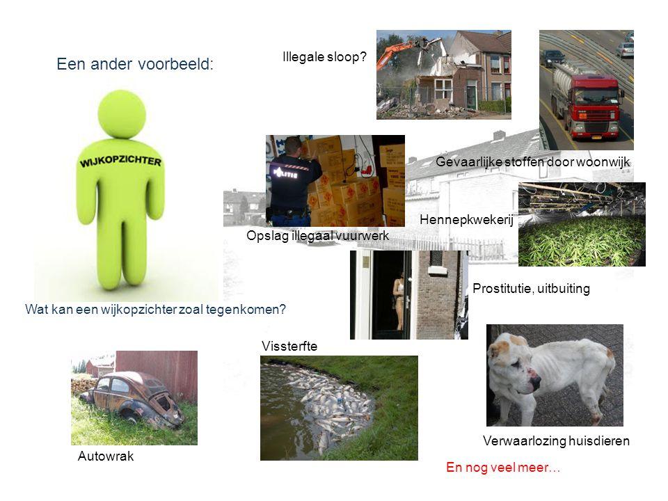 Een ander voorbeeld: Illegale sloop Gevaarlijke stoffen door woonwijk
