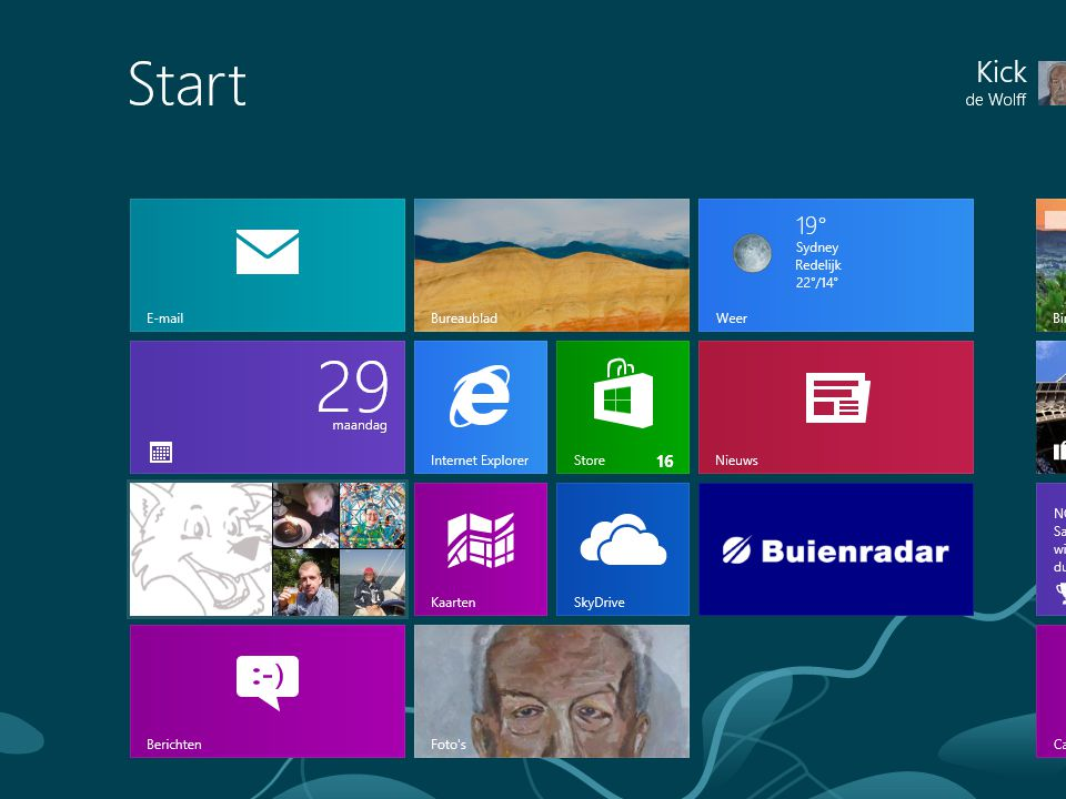 Windows 8 Kick de Wolff