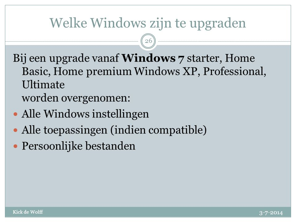 Welke Windows zijn te upgraden