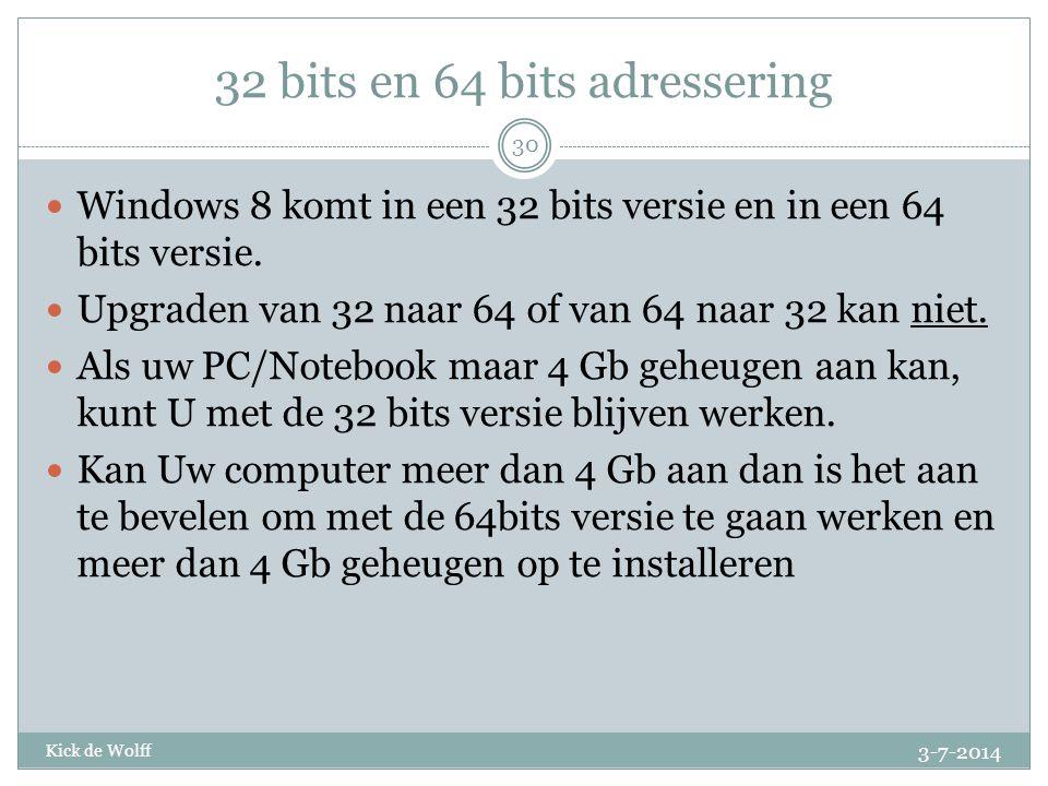 32 bits en 64 bits adressering
