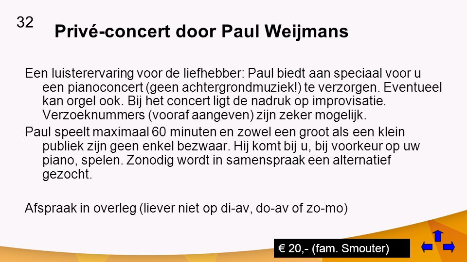Privé-concert door Paul Weijmans
