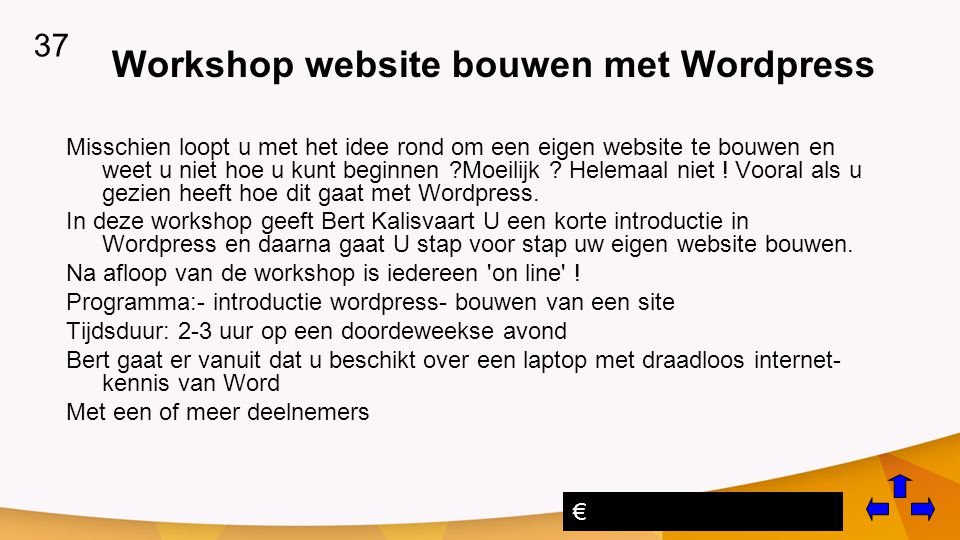 Workshop website bouwen met Wordpress