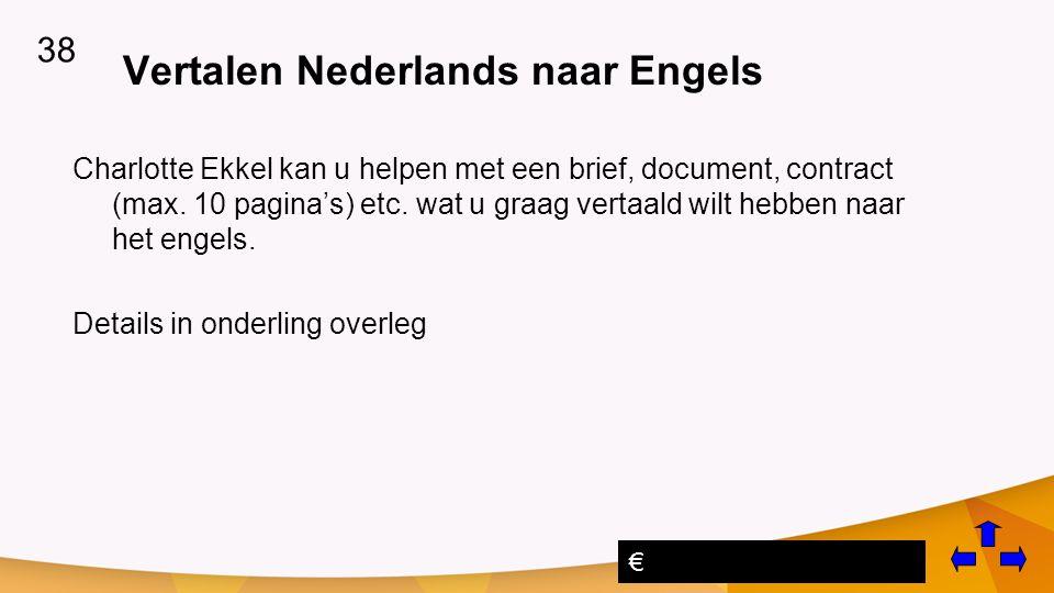 Vertalen Nederlands naar Engels