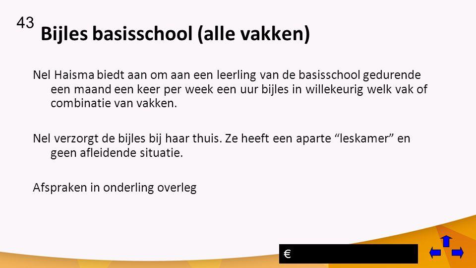 Bijles basisschool (alle vakken)