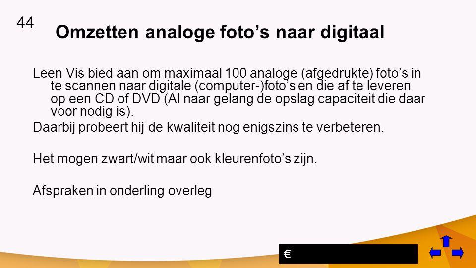 Omzetten analoge foto's naar digitaal