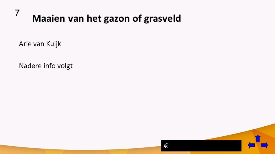 Maaien van het gazon of grasveld