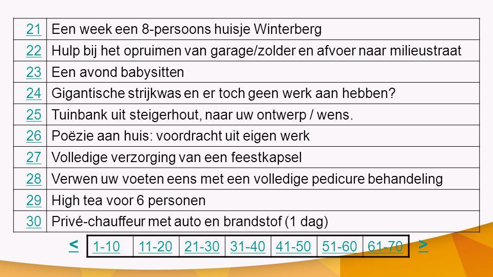 < > 21 Een week een 8-persoons huisje Winterberg 22