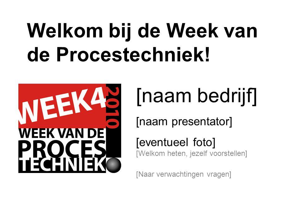 Welkom bij de Week van de Procestechniek!