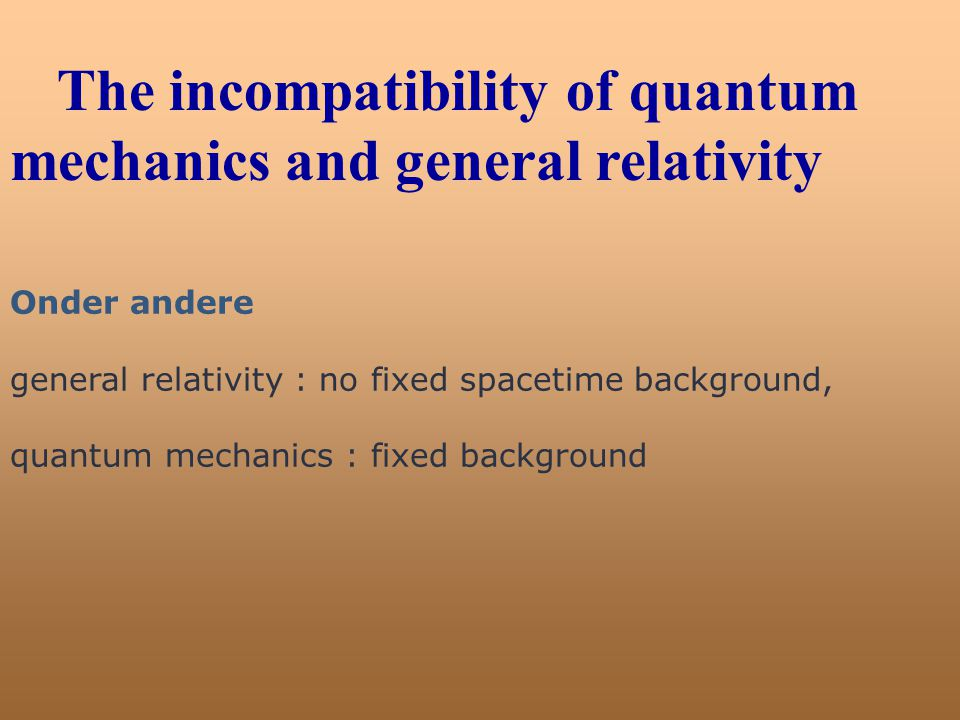 The incompatibility of quantum mechanics and general relativity