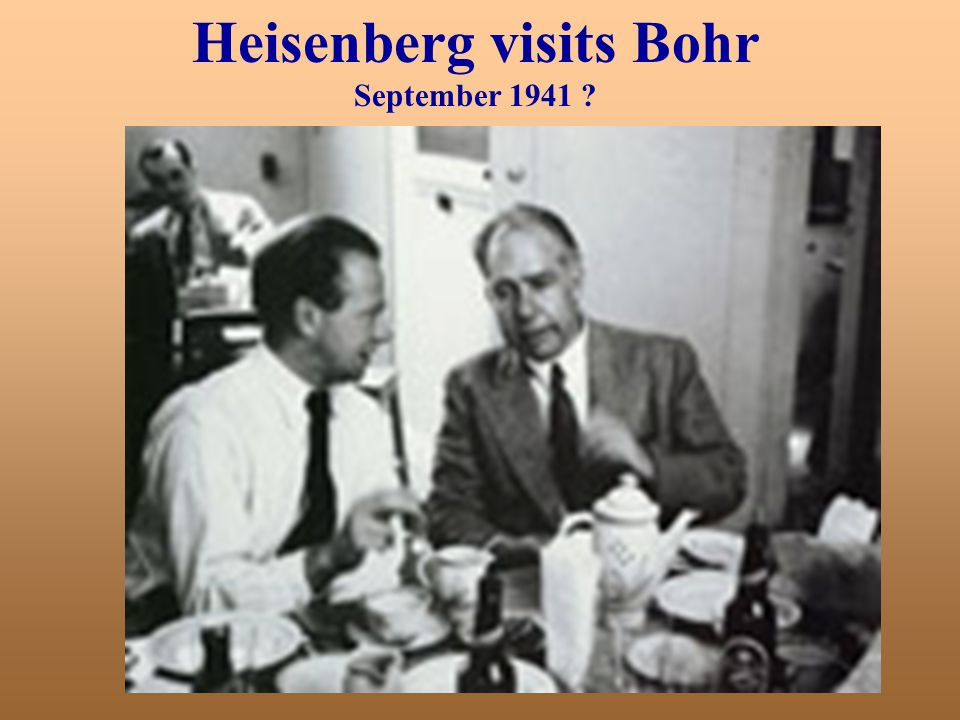 Heisenberg visits Bohr