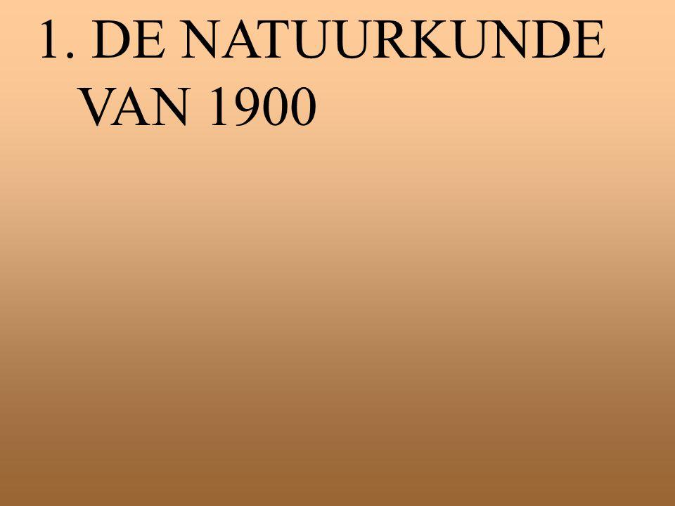 1. DE NATUURKUNDE VAN 1900
