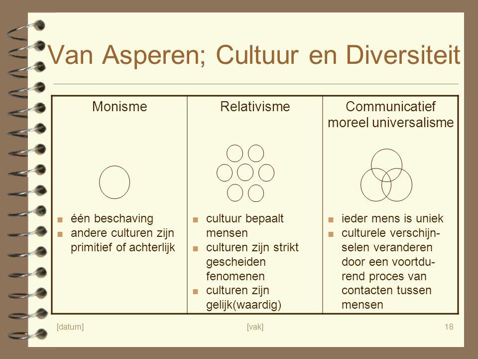 Van Asperen; Cultuur en Diversiteit