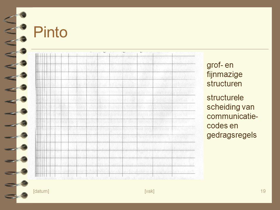 Pinto grof- en fijnmazige structuren