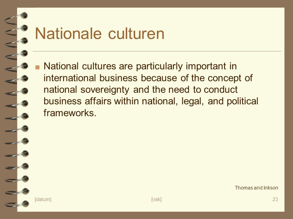 concept cultuur Nationale culturen.