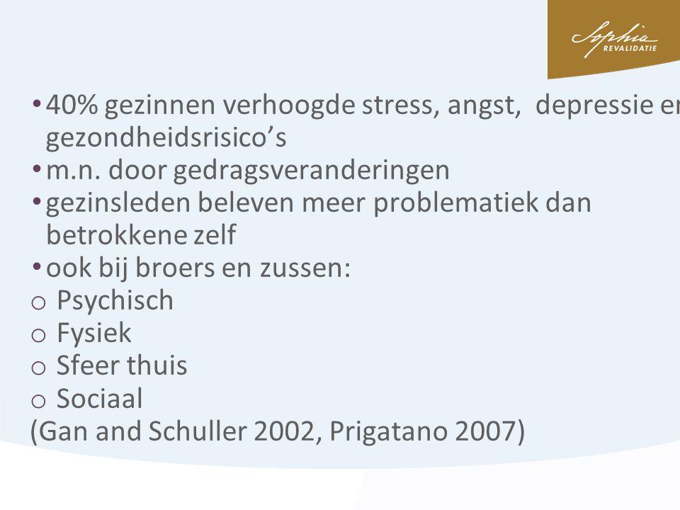 40% gezinnen verhoogde stress, angst, depressie en gezondheidsrisico's