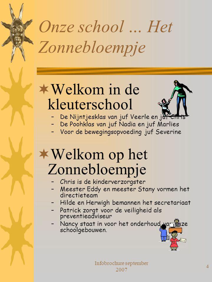 Onze school … Het Zonnebloempje