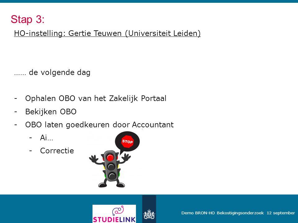 Stap 3: HO-instelling: Gertie Teuwen (Universiteit Leiden)
