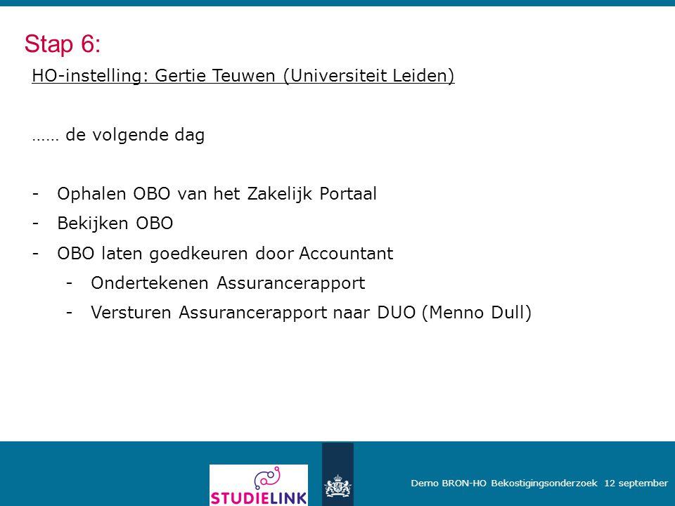 Stap 6: HO-instelling: Gertie Teuwen (Universiteit Leiden)