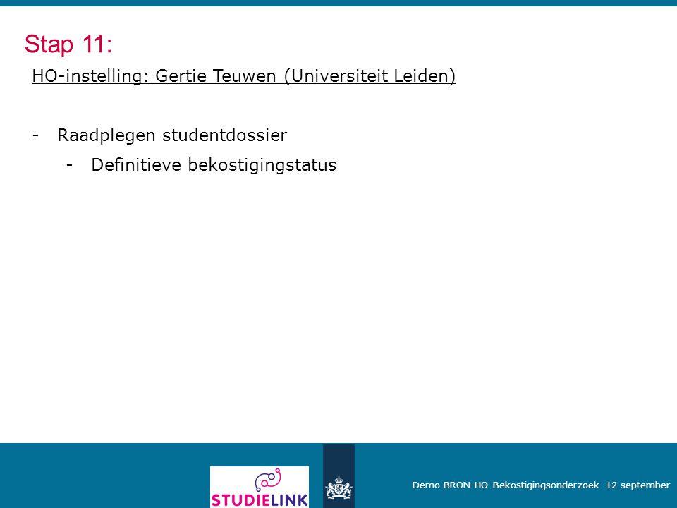Stap 11: HO-instelling: Gertie Teuwen (Universiteit Leiden)