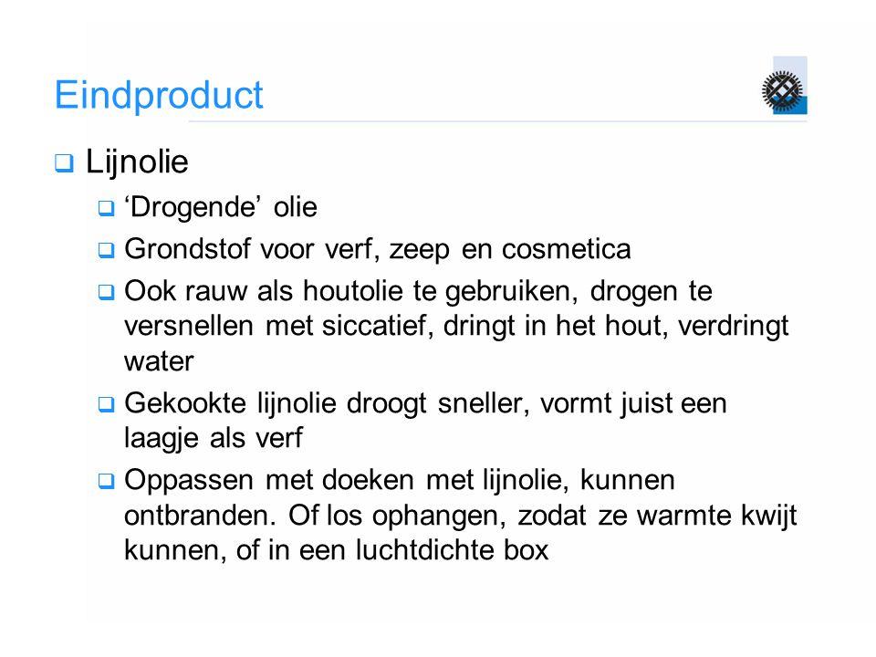 Eindproduct Lijnolie 'Drogende' olie
