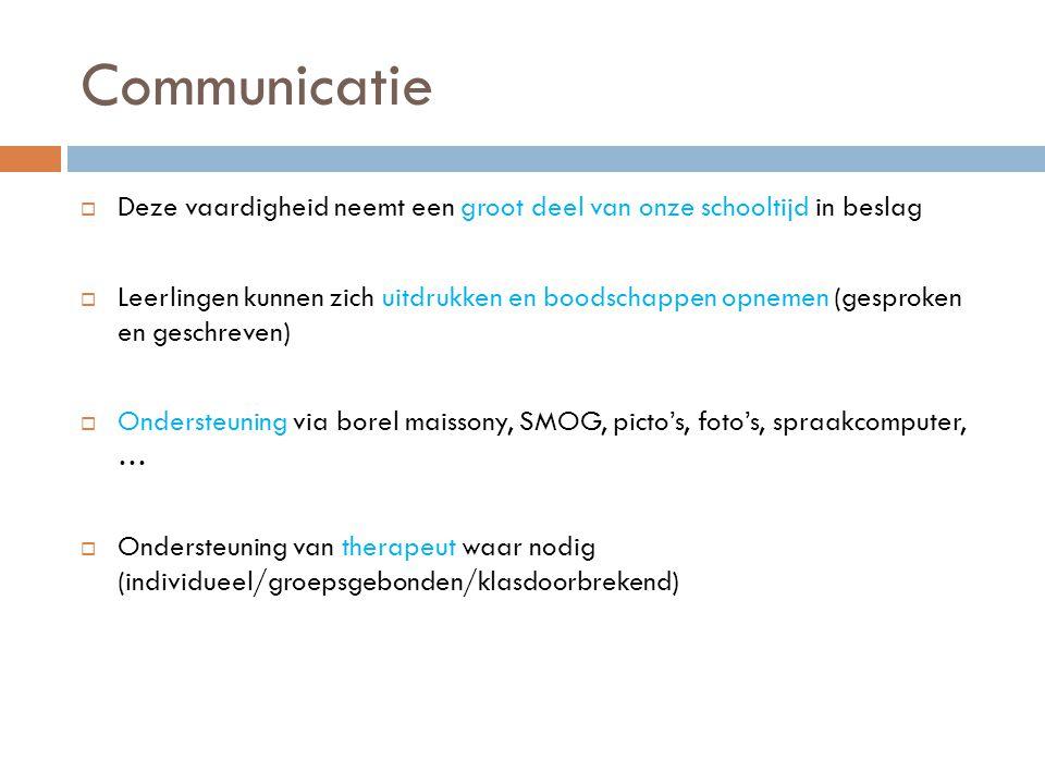 Communicatie Deze vaardigheid neemt een groot deel van onze schooltijd in beslag.