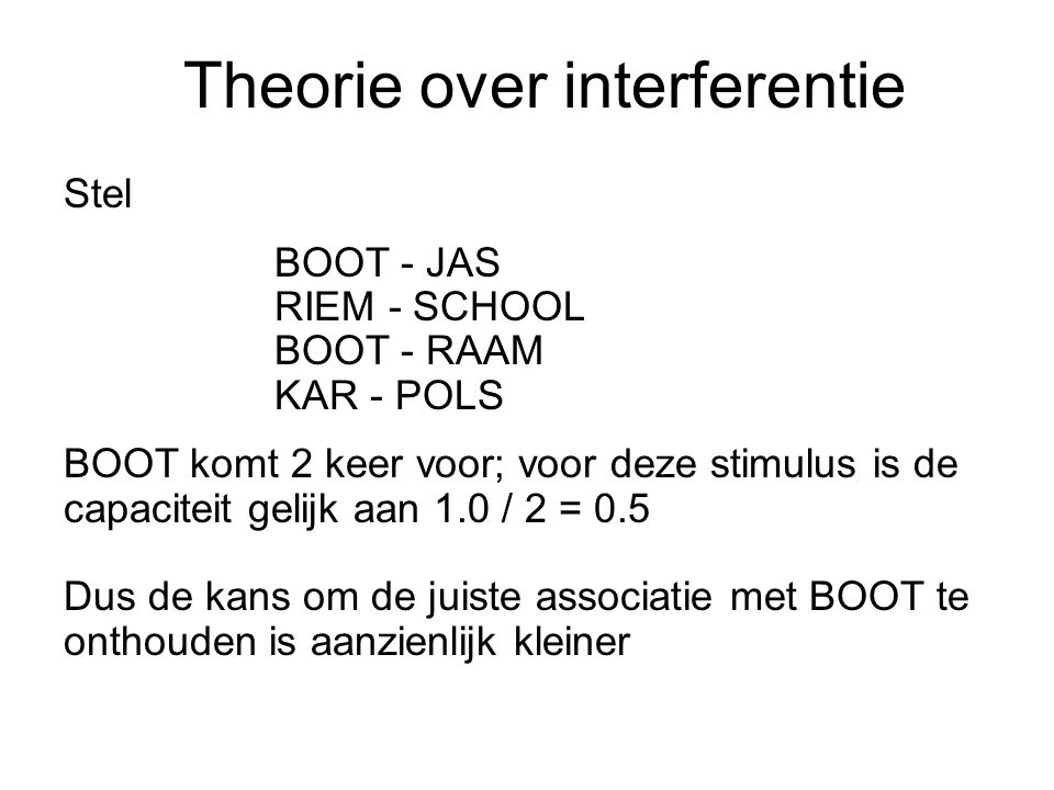 Theorie over interferentie