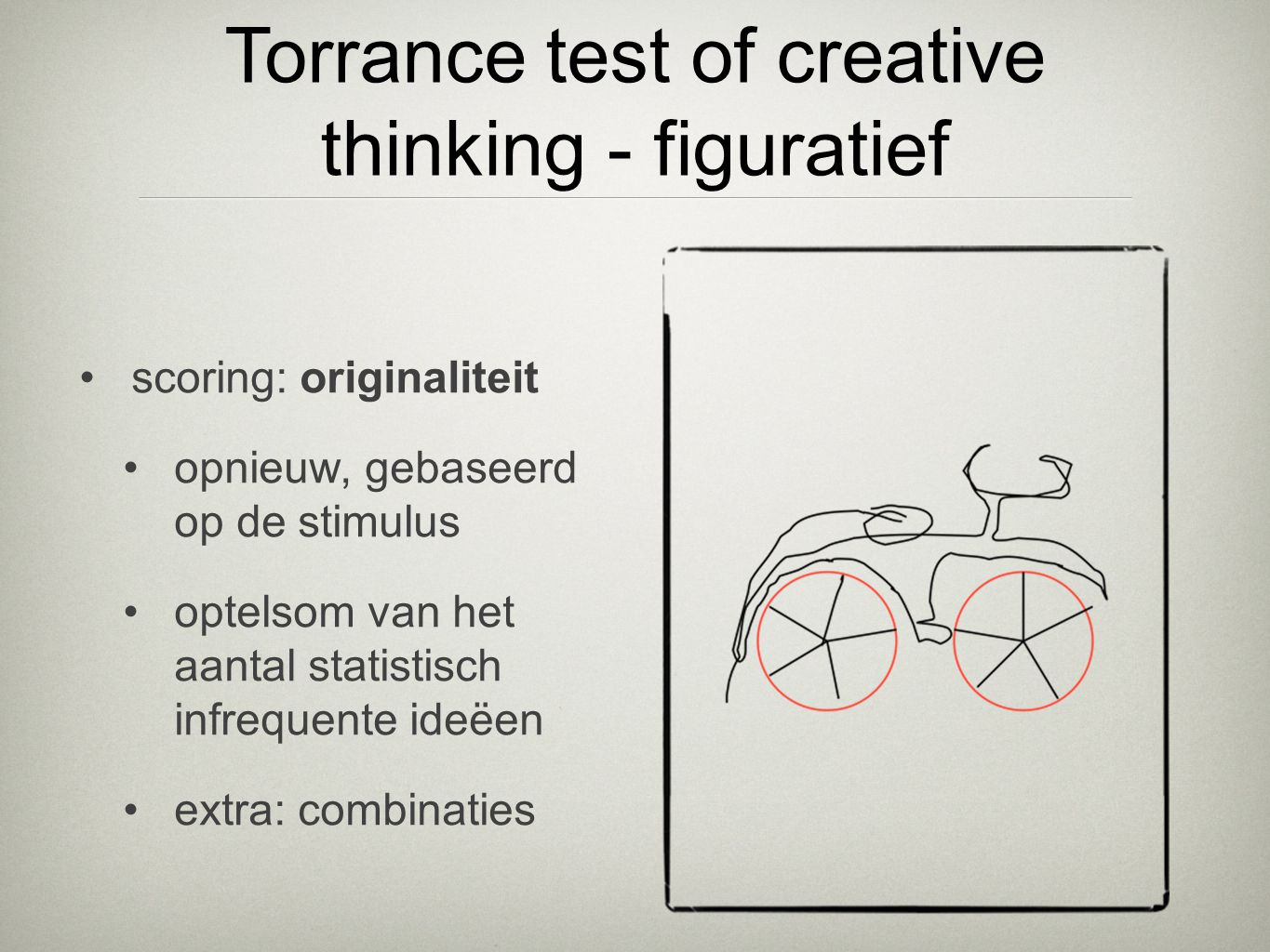 Torrance test of creative thinking - figuratief