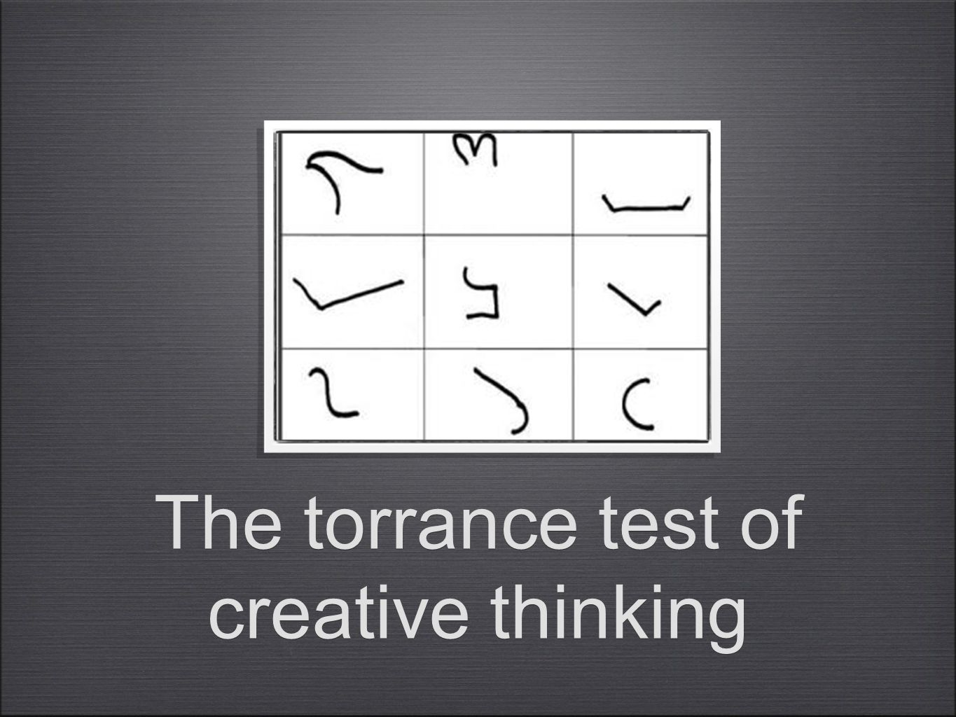 The torrance test of creative thinking