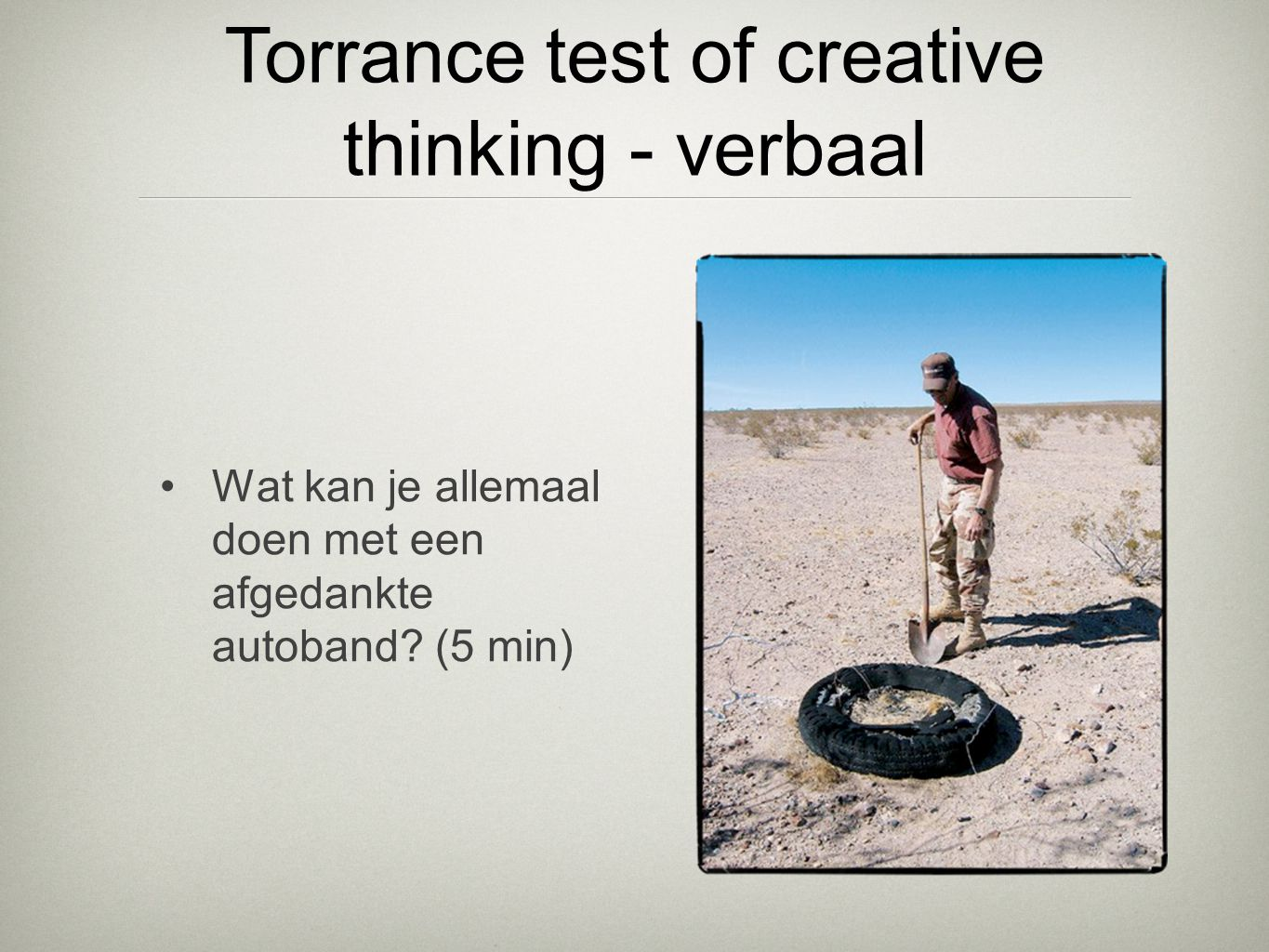 Torrance test of creative thinking - verbaal