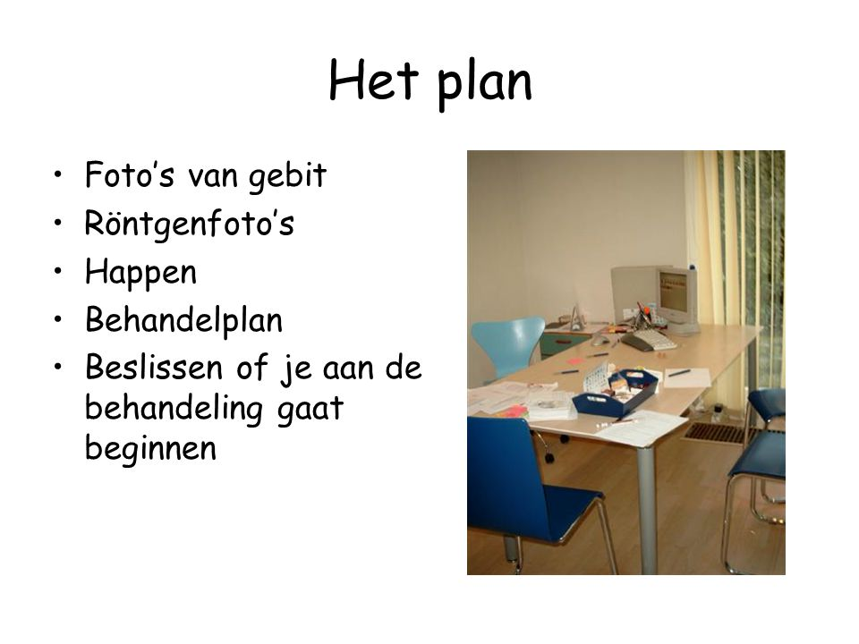 Het plan Foto's van gebit Röntgenfoto's Happen Behandelplan