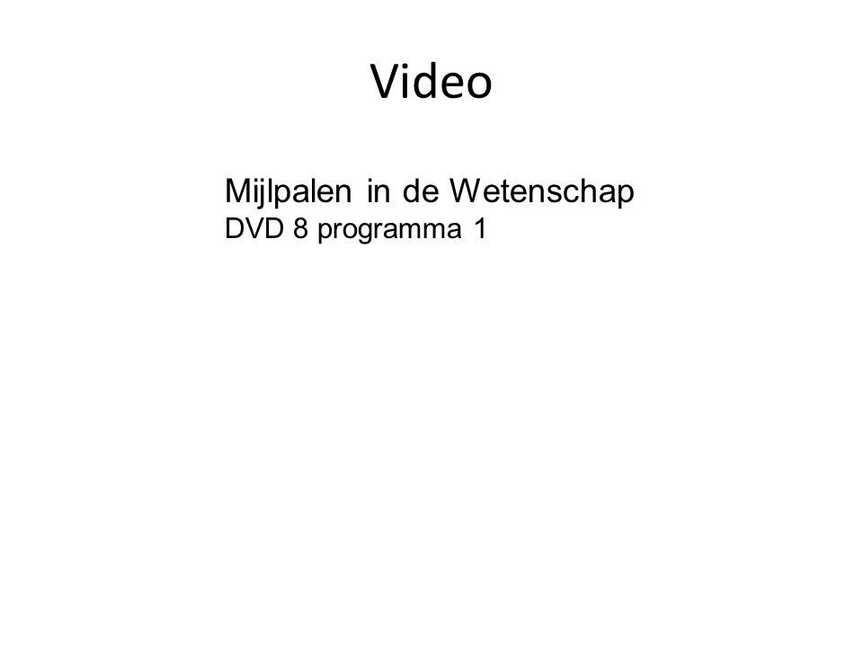 Video Mijlpalen in de Wetenschap DVD 8 programma 1
