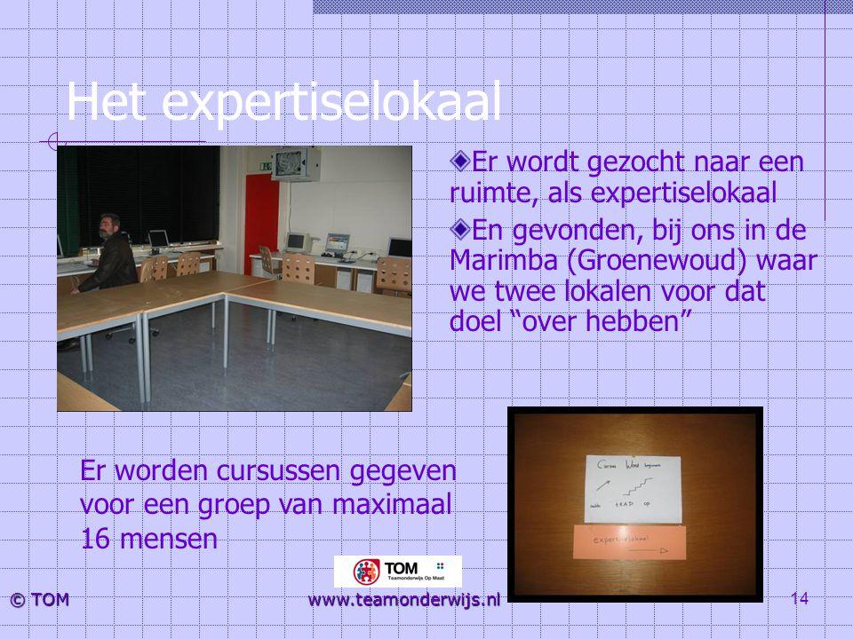 Het expertiselokaal Er wordt gezocht naar een ruimte, als expertiselokaal.