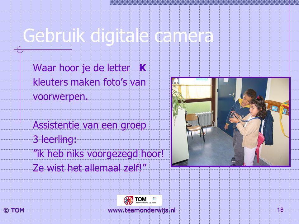 Gebruik digitale camera