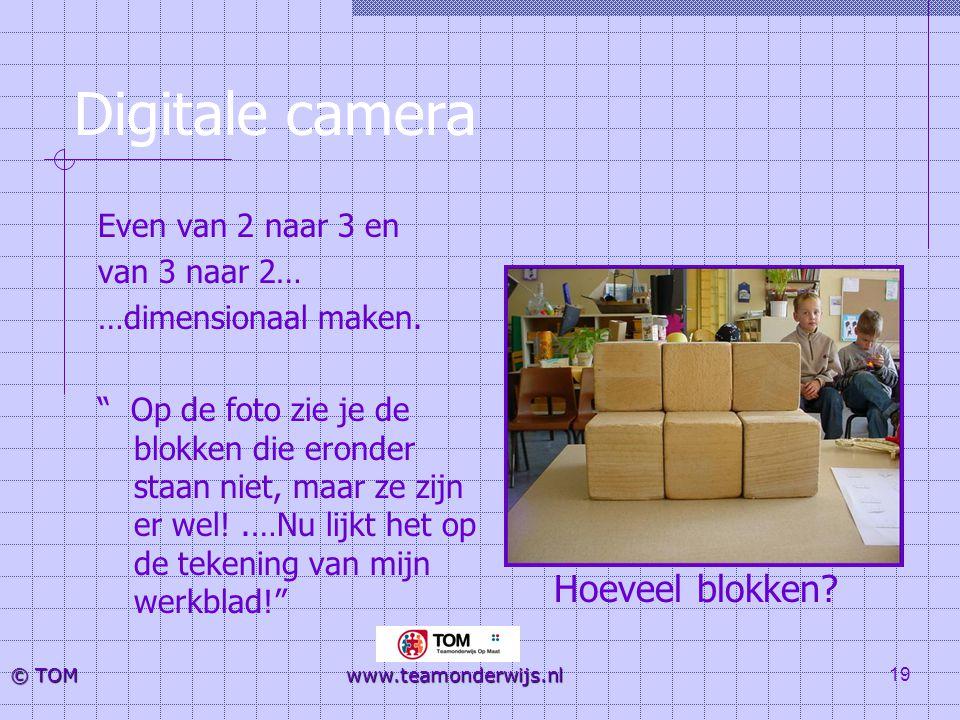 Digitale camera Hoeveel blokken Even van 2 naar 3 en van 3 naar 2…