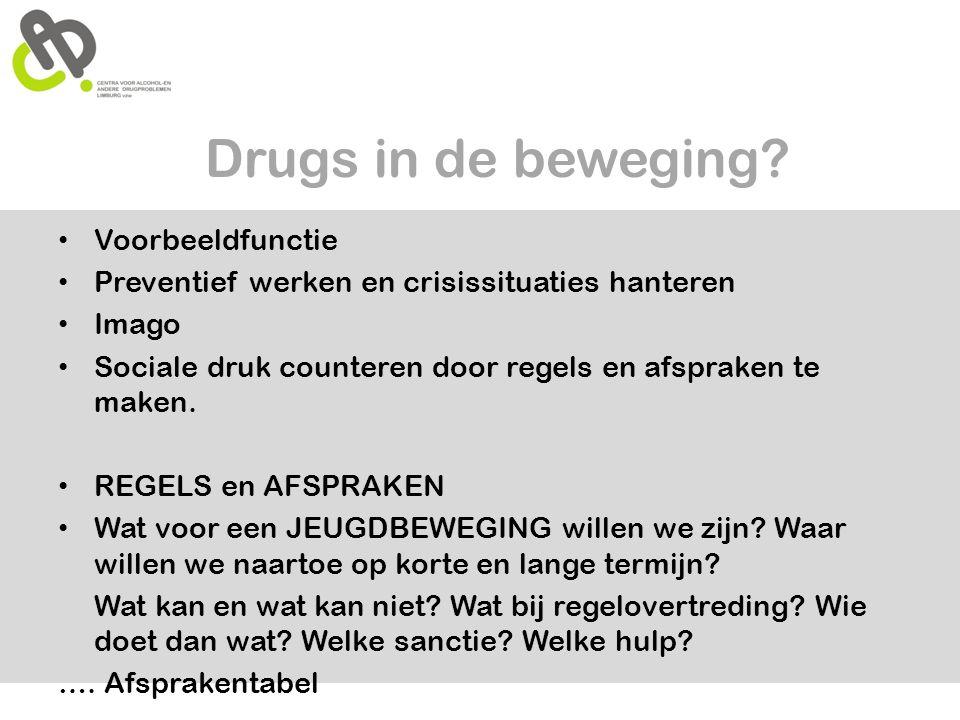 Drugs in de beweging Voorbeeldfunctie
