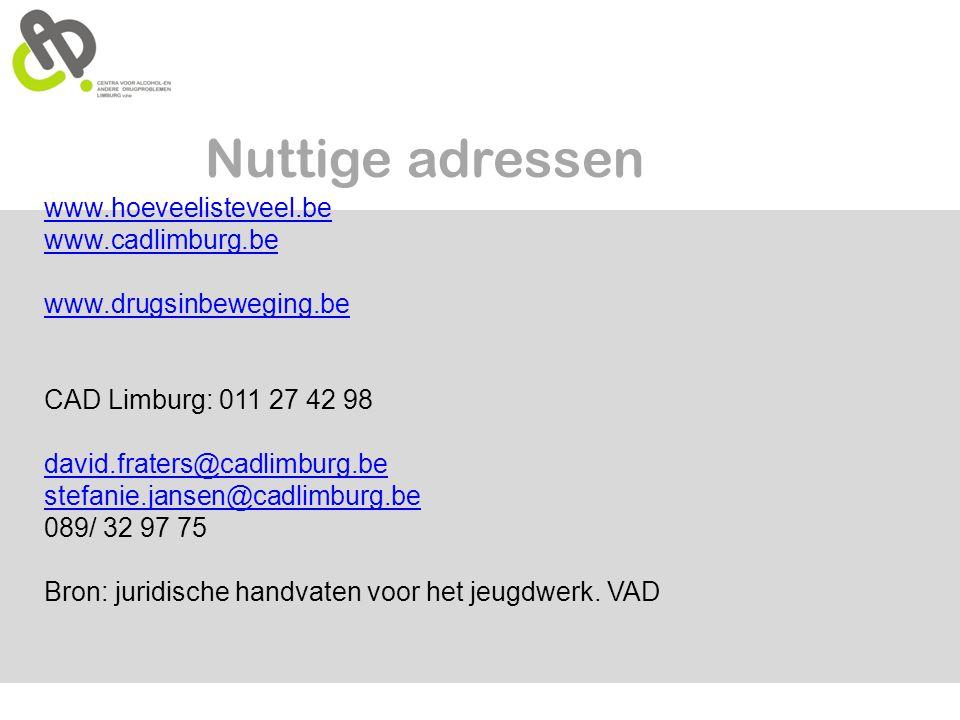Nuttige adressen www.hoeveelisteveel.be www.cadlimburg.be