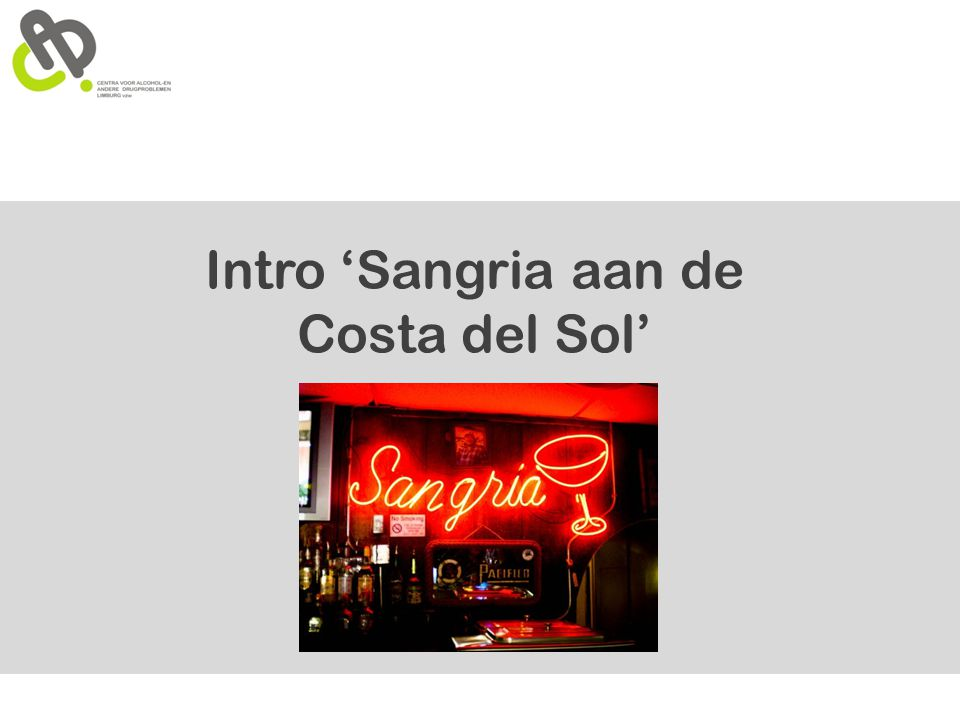 Intro 'Sangria aan de Costa del Sol'
