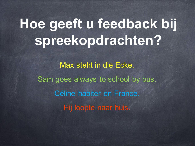 Hoe geeft u feedback bij spreekopdrachten