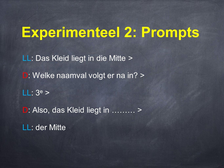 Experimenteel 2: Prompts