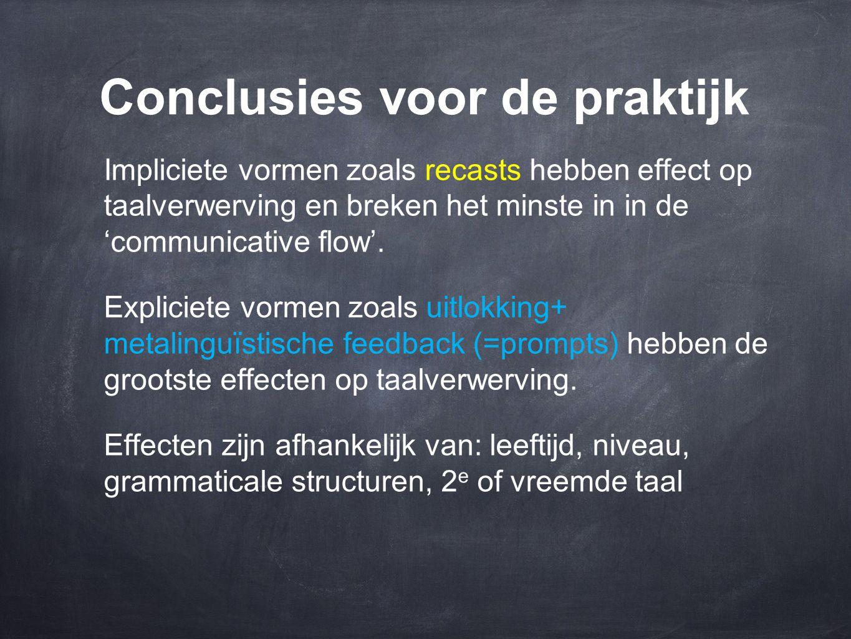 Conclusies voor de praktijk