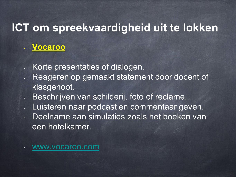 ICT om spreekvaardigheid uit te lokken