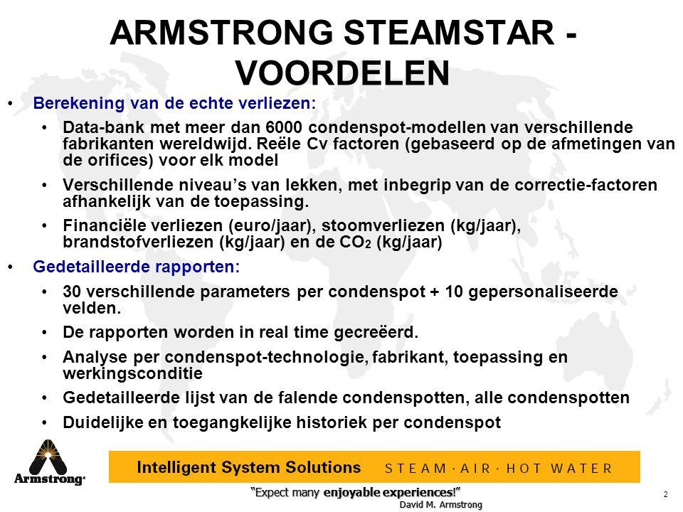 ARMSTRONG STEAMSTAR - VOORDELEN