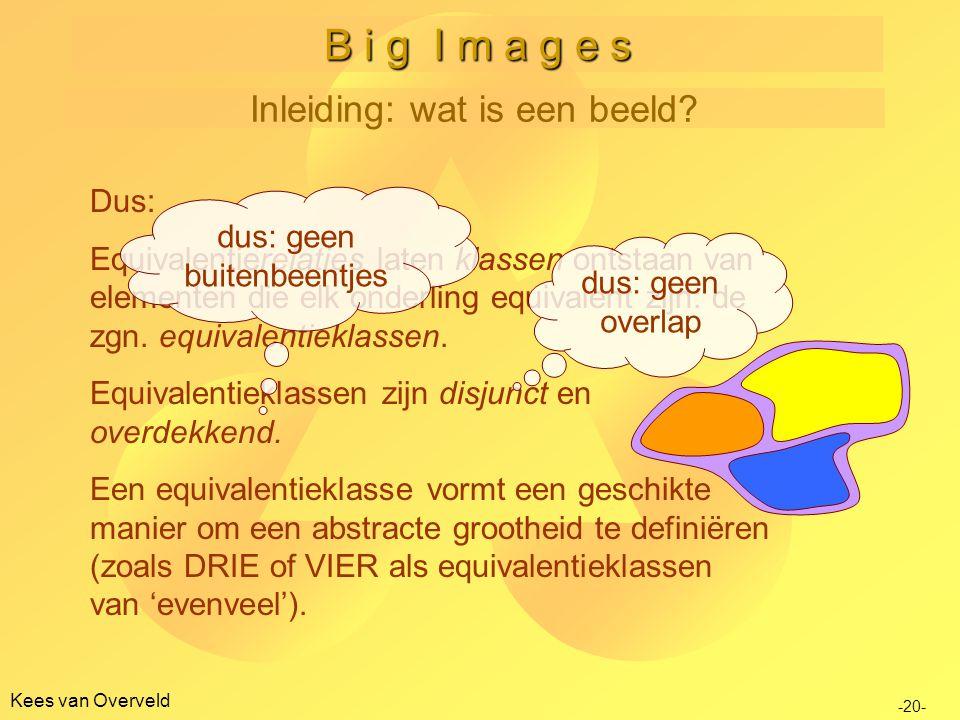 B i g I m a g e s Inleiding: wat is een beeld Dus: