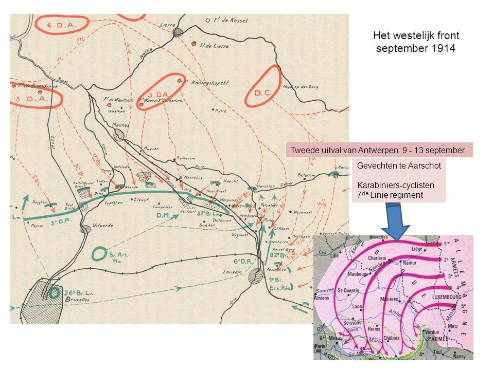 Het westelijk front september 1914