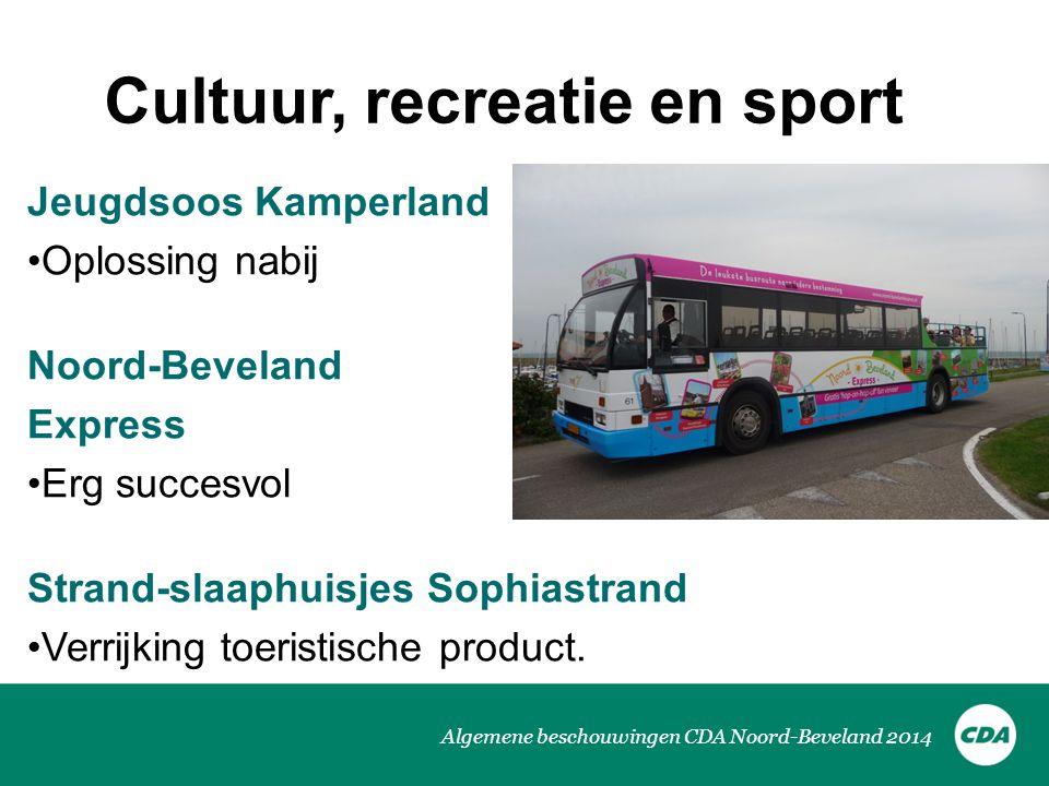 Cultuur, recreatie en sport
