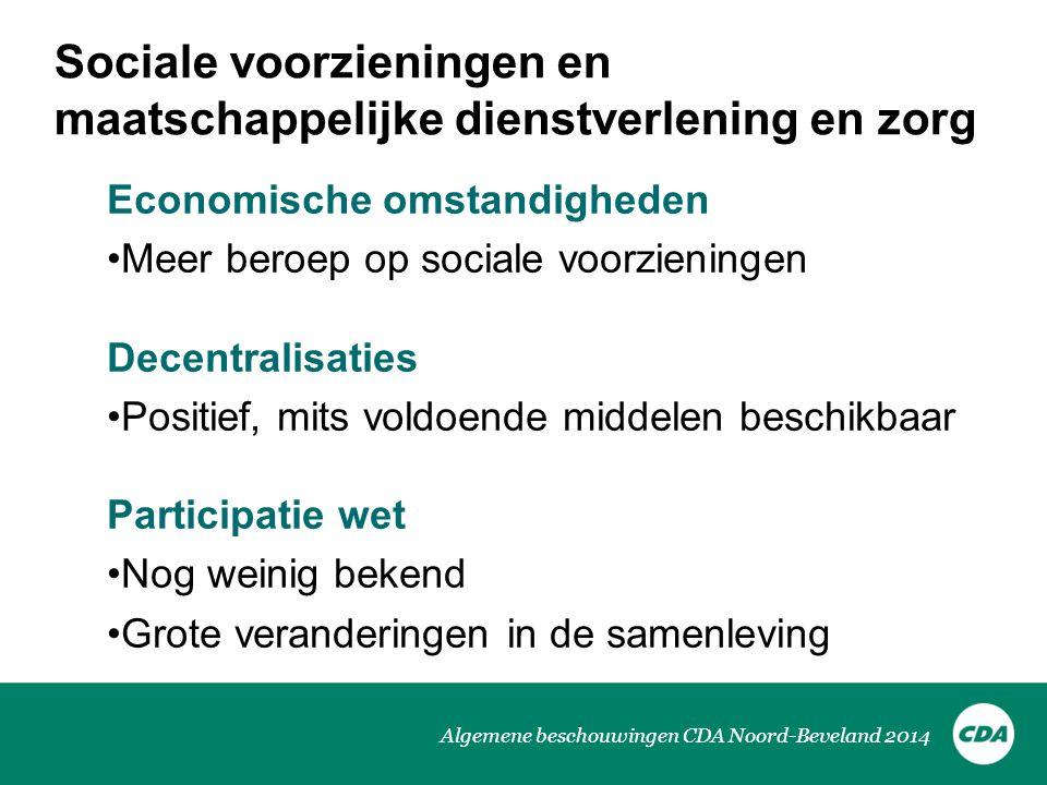 Sociale voorzieningen en maatschappelijke dienstverlening en zorg