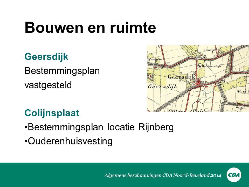Bouwen en ruimte Geersdijk Bestemmingsplan vastgesteld Colijnsplaat